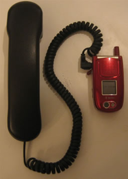 Handset for cell phone