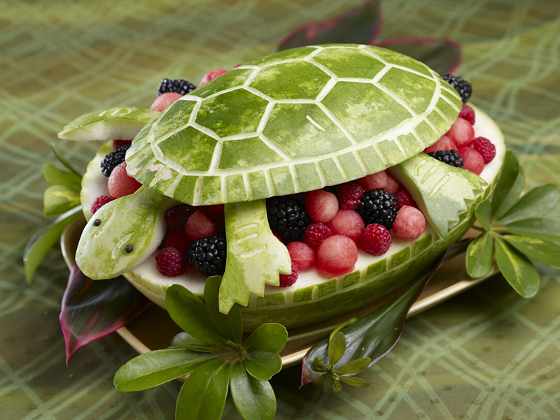 carve a watermelon turtle do it and how