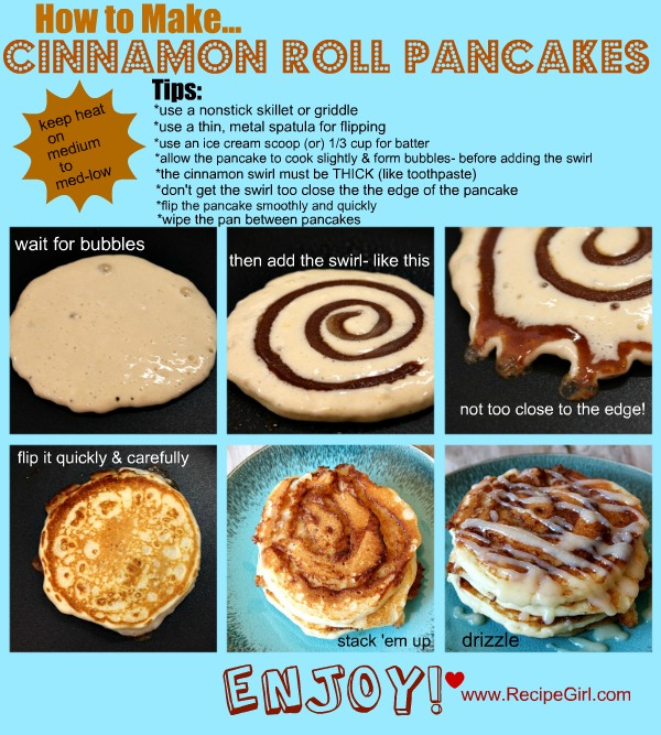 Cinnamon swirl pancakes do it and how 4 tablespoons 12 stick unsalted butter just melted not boiling 14 cup 2 tablespoons packed light brown sugar 12 tablespoon ground cinnamon ccuart Choice Image