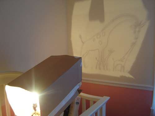 Diy projector for wall murals do it and how for Diy wall photo mural