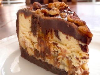 Chocolate Caramel Cookie Dough Cheesecake | Do It And How