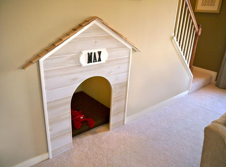 Charming Under Stairs Dog House