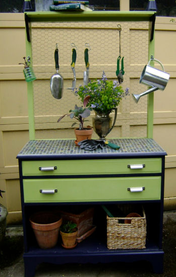 Dresser Into Garden Potting Bench Do It And How