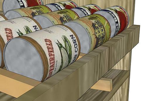 food storage can rotation shelf plans