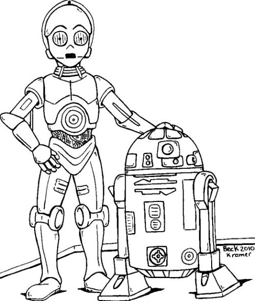 R2d2 And C3po Drawing How to draw r2D2 and C...
