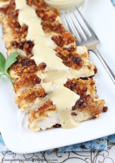 Pretzel Crusted Chicken with Honey Mustard Sauce | Do It And How