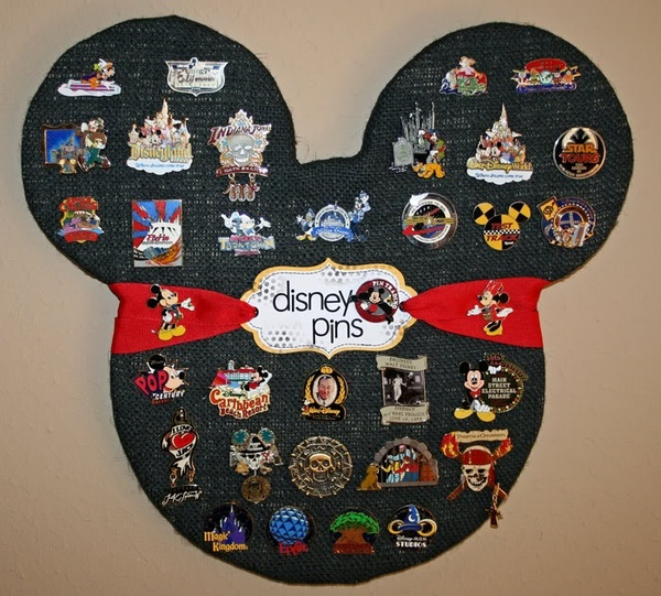 Disney pin holder do it and how for Cork board pin display