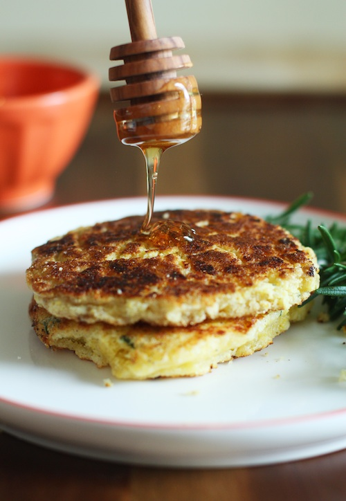 Savory-Corn-Pancakes-with-Honey-Set-the-Table