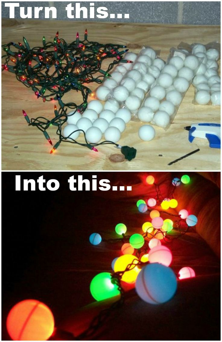 String Lights Ping Pong Balls : Ping Pong Ball Lights Do It And How
