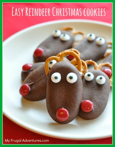 Easy-Reindeer-Christmas-Cookies-so-fun-for-kids-and-very-quick-to-assemble.-394x500