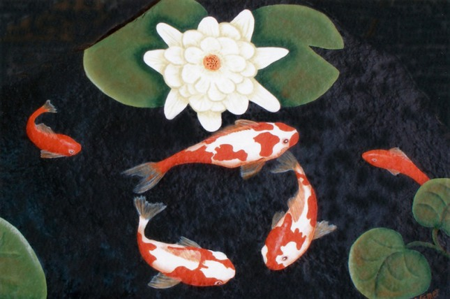 Koi Pond   Colour Photo 2