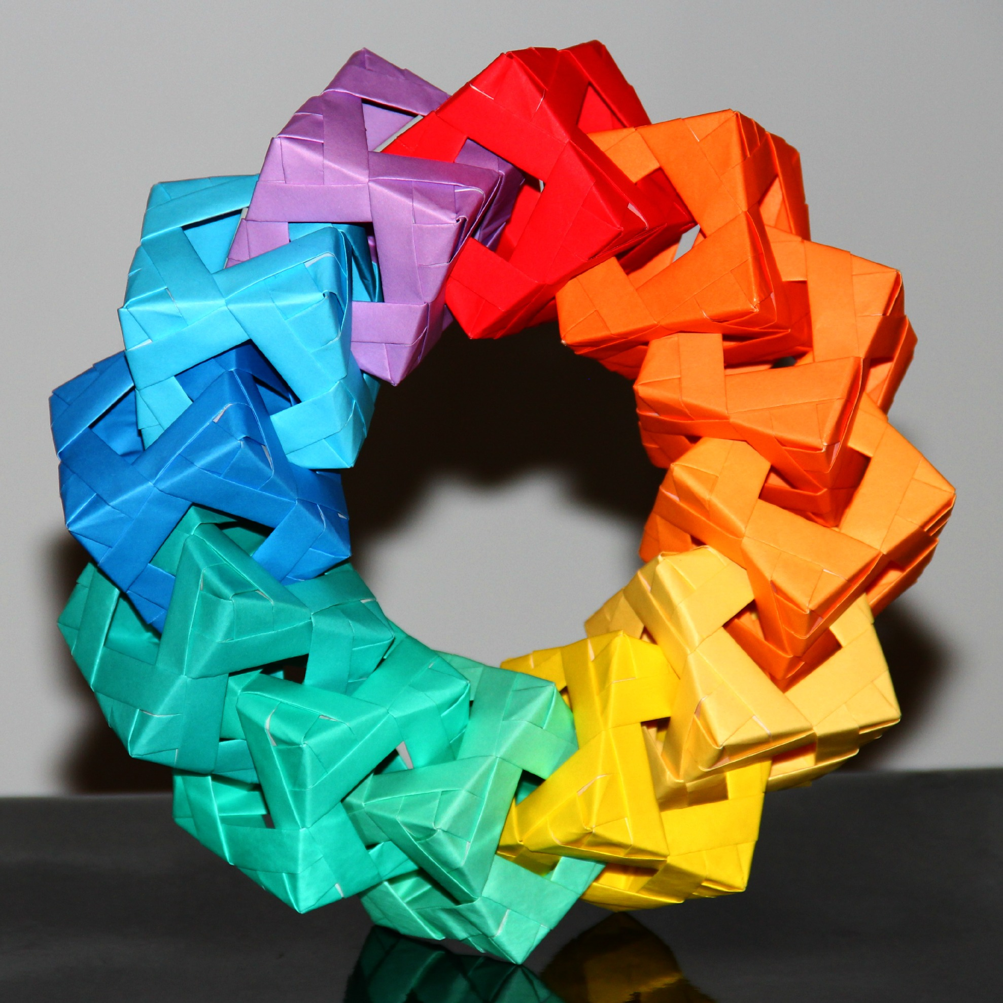 Awesome origami ring thing do it and how for Things to make with paper
