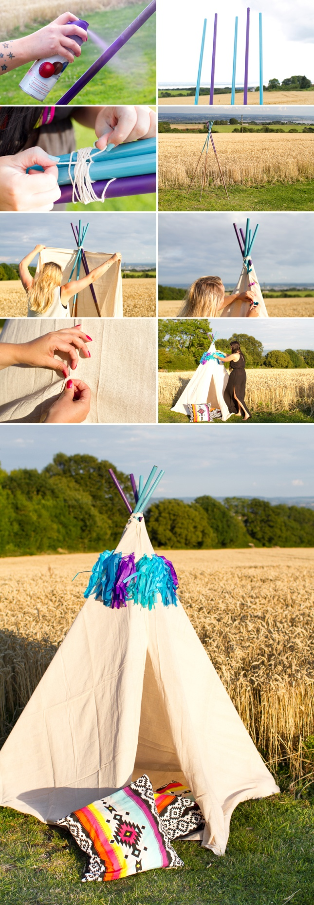 DIY-Mini-Tipi-How-to-make-teepee-collage