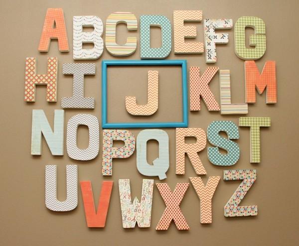 Alphabet Wall Decor Alphabet Nursery Wall D On Plain Design Letter Wall Decor Alphabet For Black Stained Wood