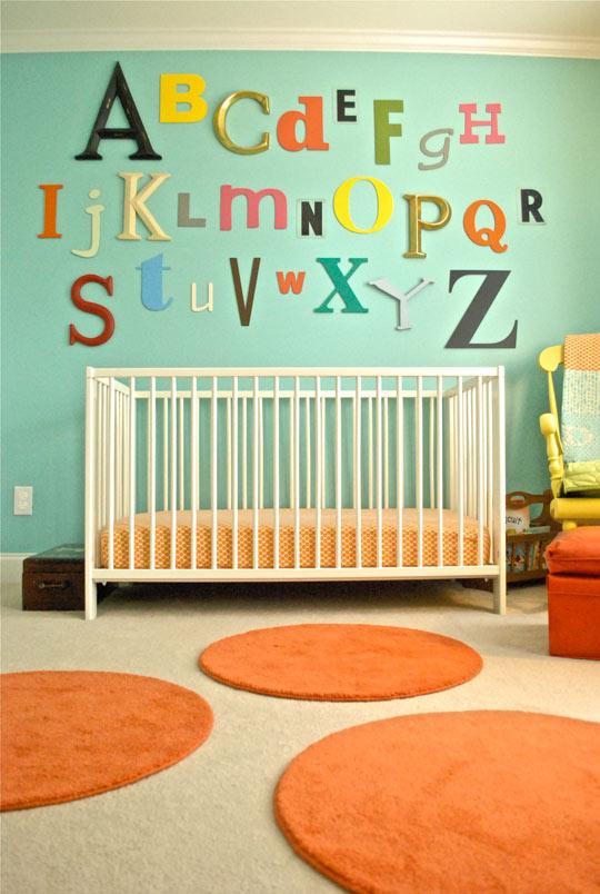 Alphabet nursery wall decor do it and how for Alphabet mural nursery