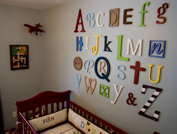 Alphabet Wall Decor Nursery : Alphabet nursery wall decor do it and how