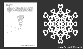 This is an image of Intrepid Printable Paper Snowflake Patterns