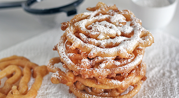 Mini Funnel Cakes With Bisquick