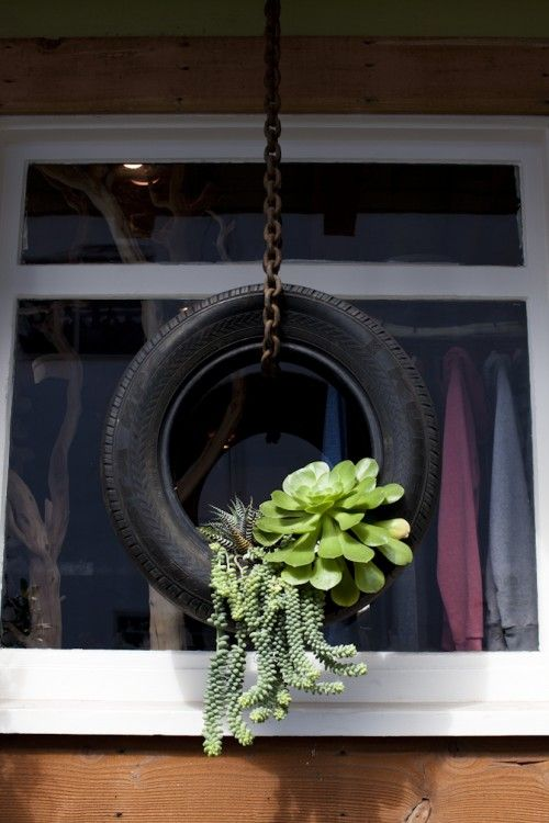 Upcycle Tire Swing Into Plant Hanger Do It And How