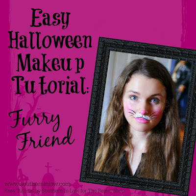 Furry Friend Bunny or Kitten Easy Clown Halloween Makeup Tutorial