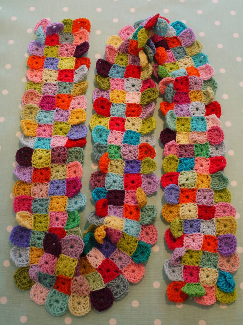 Mini Granny Square Scarf Project Do It And How