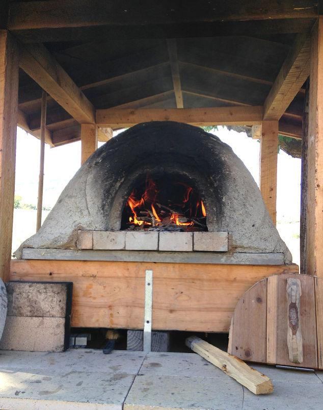 Build wood fired earth oven concrete masonry diy outdoor - Chimeneas para hornos de lena ...