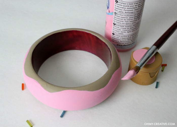 Painted-Wooden-Donut-Bracelet-