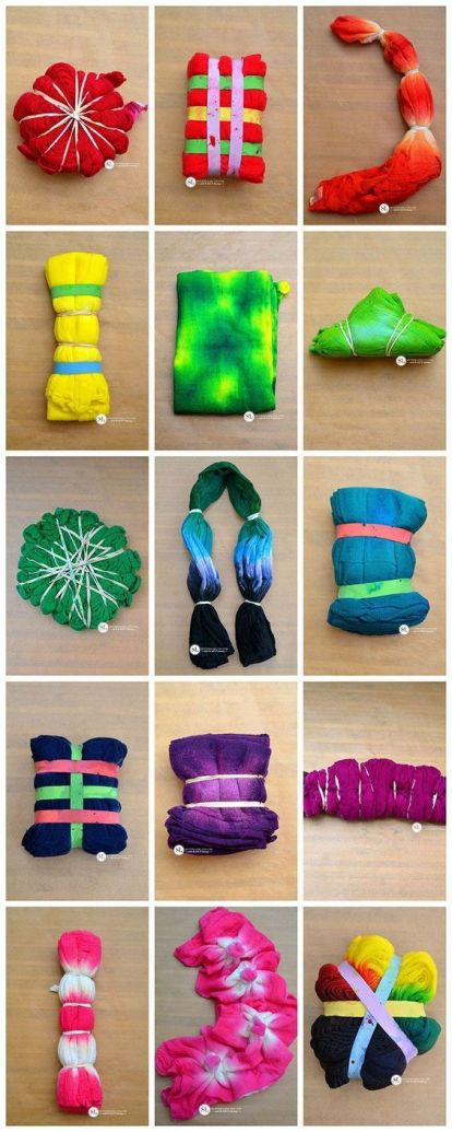 Tie Dye Folding Techniques Do It And How