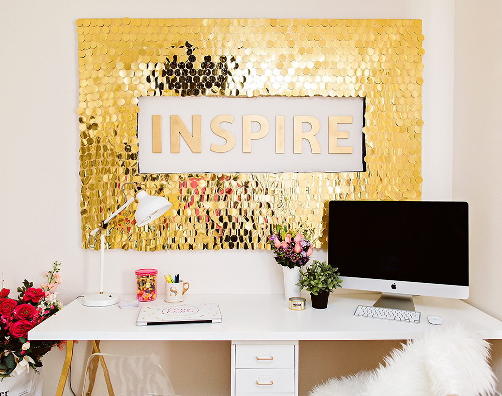 DIY Sequin Wall Art – Do It And How