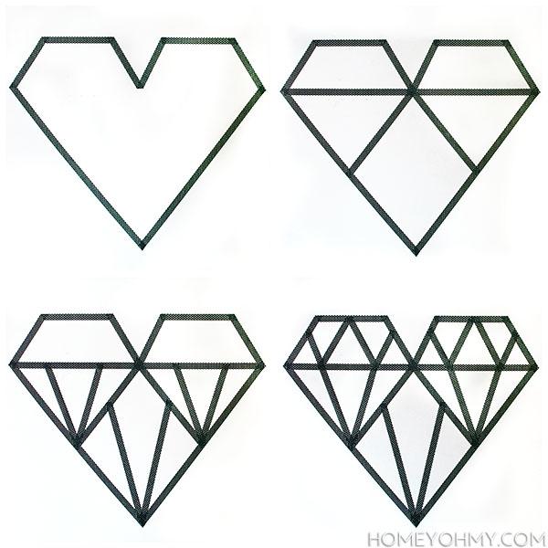 Washi-geometric-heart-steps