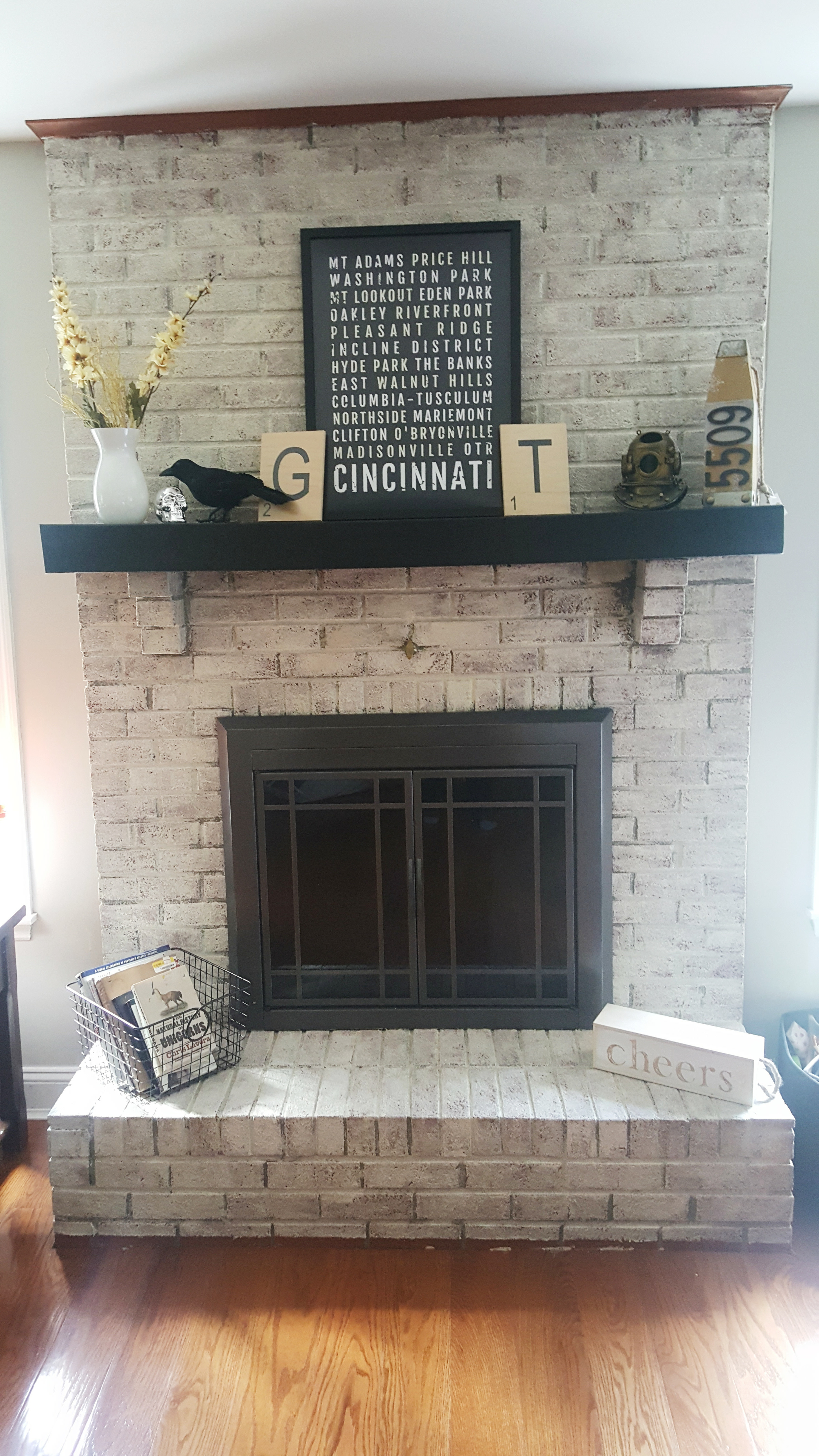 Limewashed Fireplace Do It And How