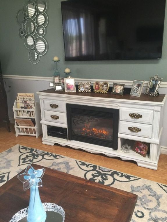 dresser-turned-media-console-fireplace-fireplaces-mantels-painted-furniture-1