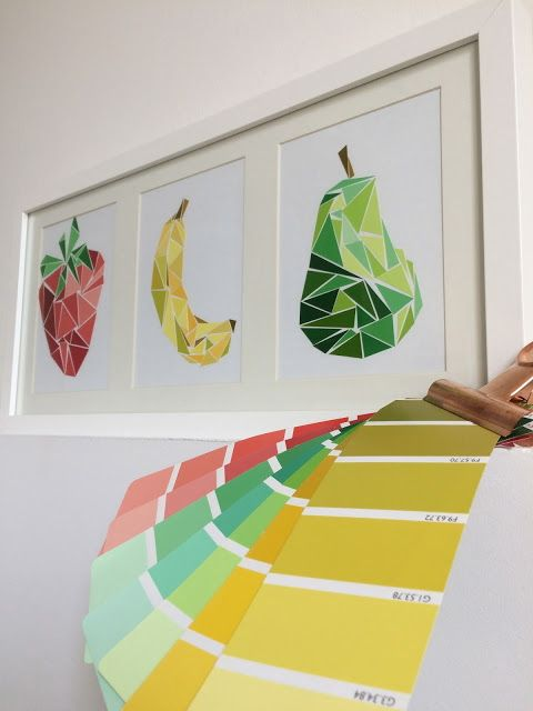 Geometric fruit art do it and how for Pinterest art ideas for adults
