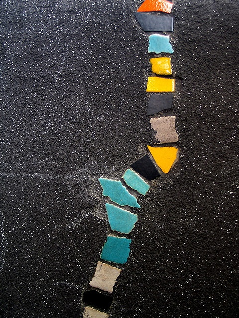 Fill Sidewalk Cracks With Mosaics Do It And How