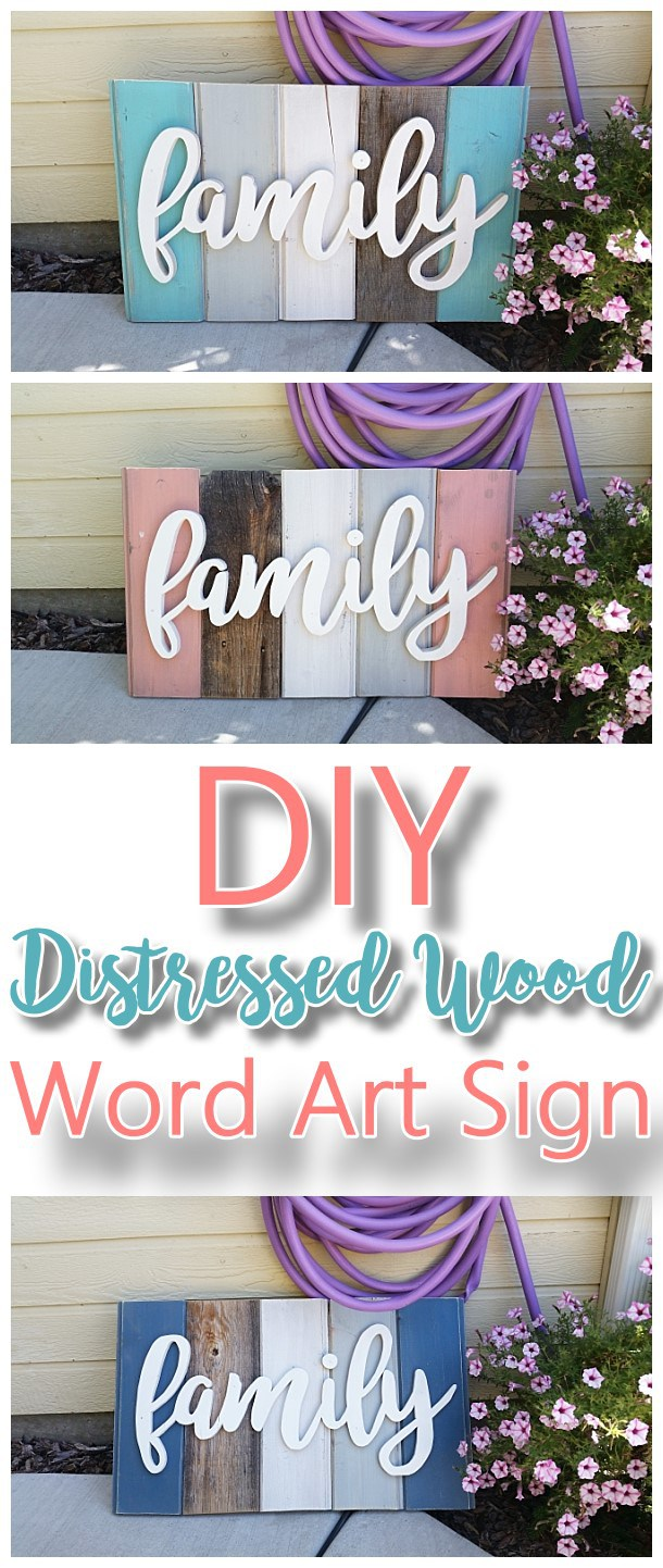 DIY-Family-Word-Art-Sign-Woodworking-Project-Tutorial-Technique-for-New-Wood-Distressed-to-look-like-weathered-Barn-Wood-Do-it-Yourself-Home-Decoration