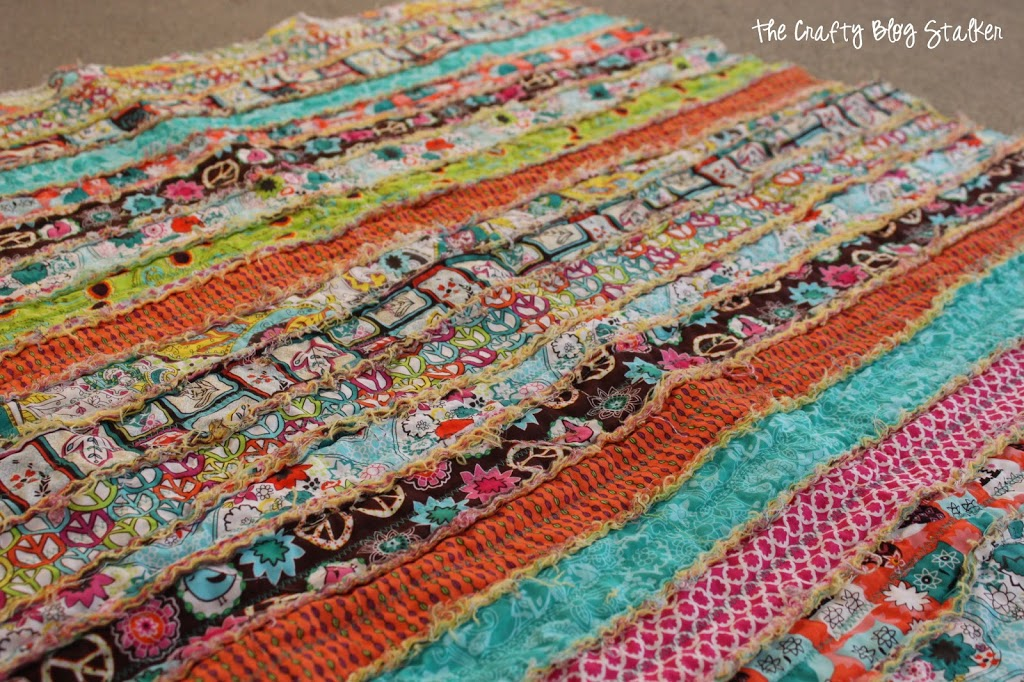 Fabric Strip Rag Quilt Do It And How