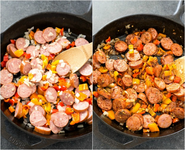 Sausage-and-Creamy-Cajun-Orzo-Skillet-Collage