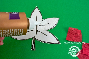 Puffy-Tissue-Paper-Leaves-step-2