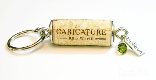 Wind-cork-Key-Chain