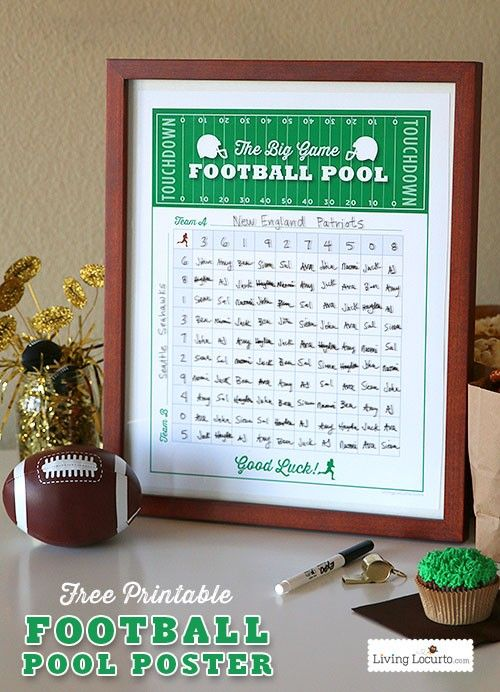 graphic about Printable Football Pools titled Printable Soccer Pool Poster Do It And How