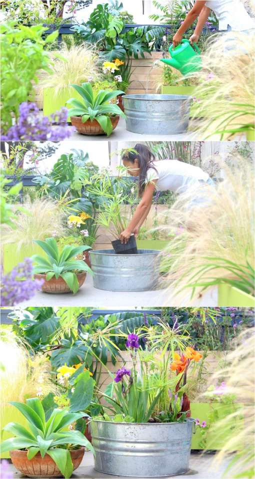 diy-solar-fountain-bird-bath-outdoor-solar-pump-patio-pond-water-plants-apieceofrainbow-6