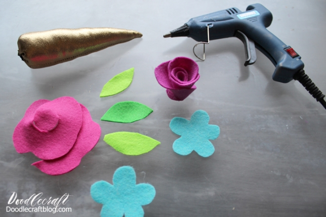 unicorn horn flowers headphones craft diy doodlecraft (8)