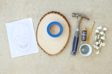 Glow-in-the-dark-skull-string-art-1-supplies