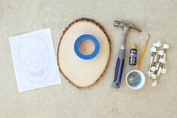 Glow-in-the-dark-skull-string-art-1-supplies