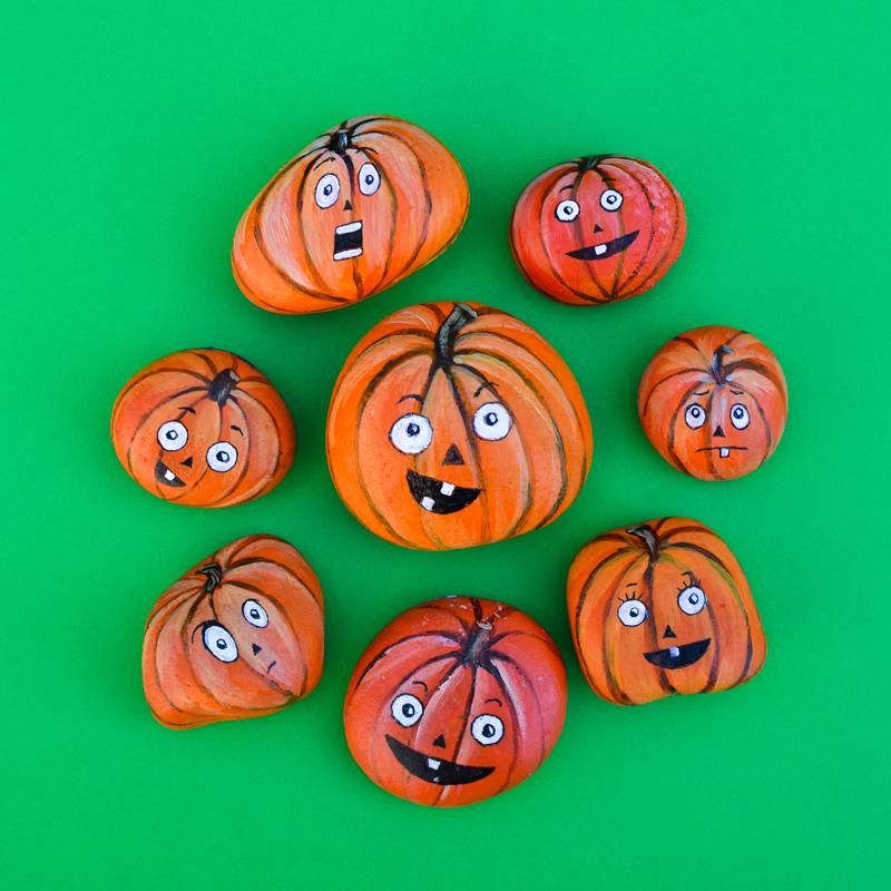 how-to-paint-jack-o-lantern-pumpkin-rocks-11