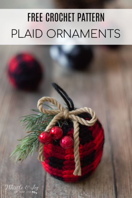 Plaid-Ornaments