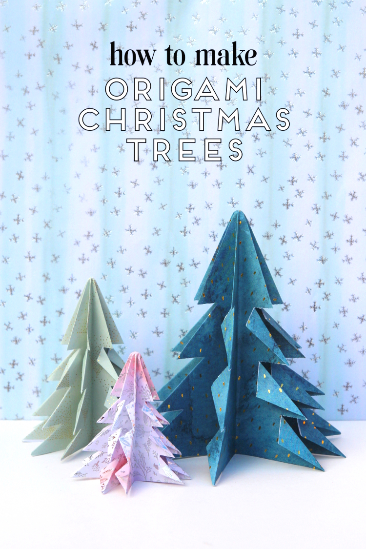 LEARN+HOW+TO+MAKE+EASY+DIY+ORIGAMI+CHRISTMAS+TREES+DECORATIONS