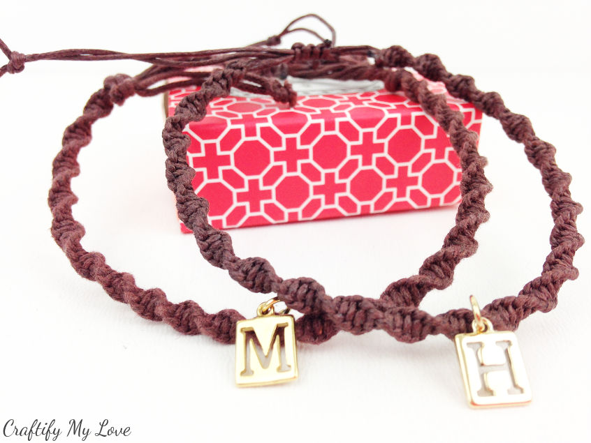 DIY-jewelry-macrame-sprial-bracelet-with-charm-for-couples-bffs-CML