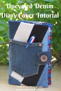 Upcycled Denim Diary Cover Tutorial