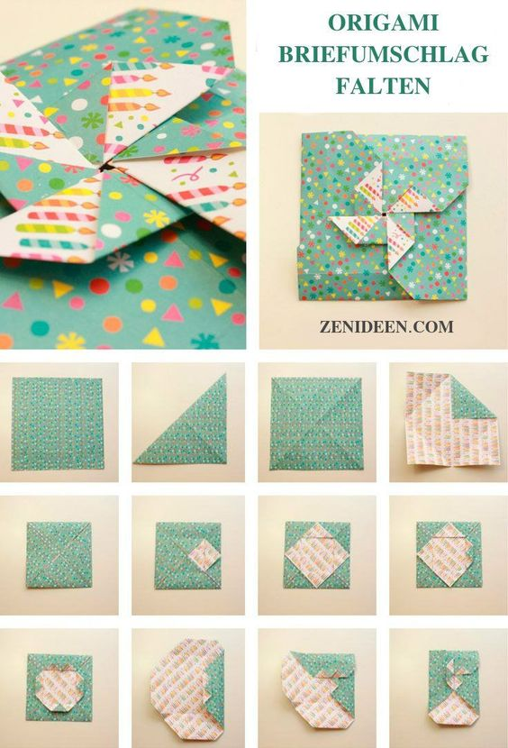 Origami envelope and gift box – Buy image – 12550914 ❘ living4media | 830x564